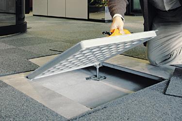 Ofimam mamparas de oficina particiones tabiques moviles techos metalicos suelos - Suelos tecnicos precios ...